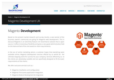 Magento Development Company in uk by Simontech way - issuu
