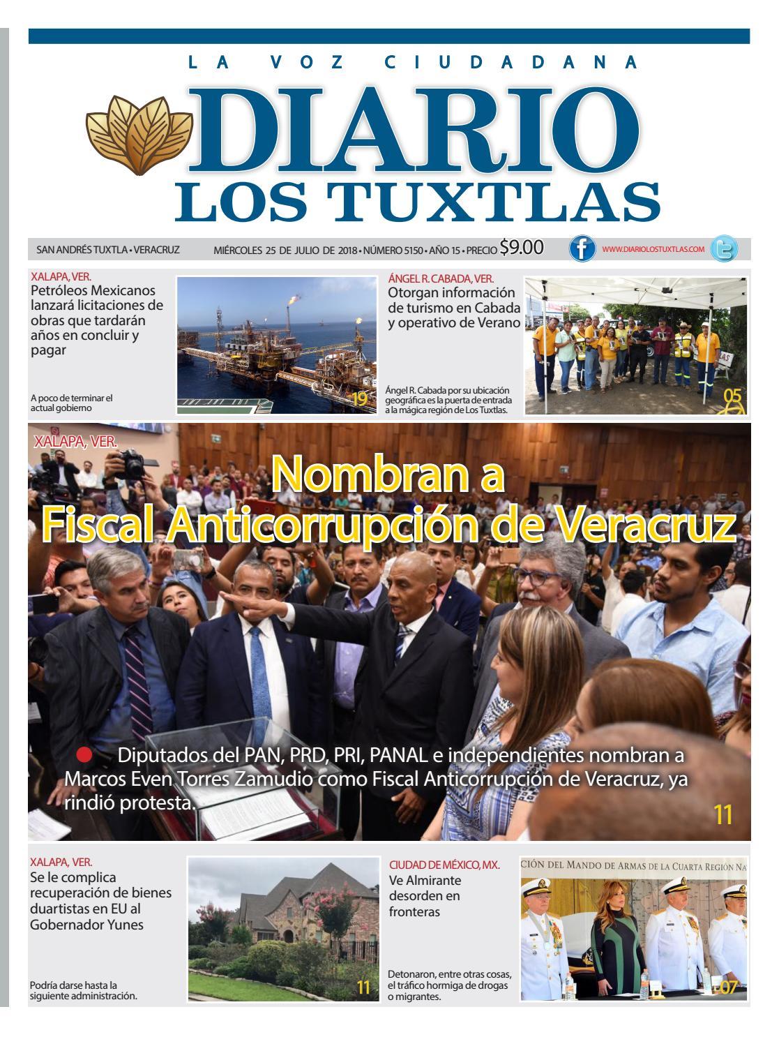 Edición de Diario los Tuxtlas del día 25 de julio de 2018 by Diario ...