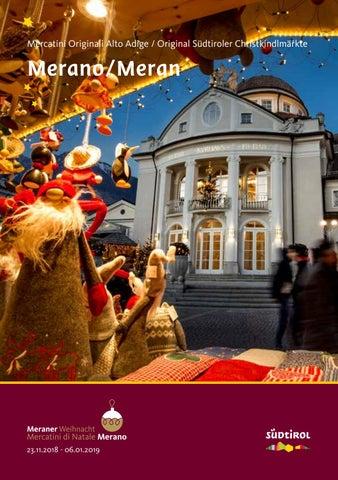 Brochure Estiva Dei Mercatini Di Natale Di Merano 2018