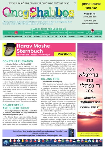 Oneg Voeschanon by Oneg Shabbos - issuu