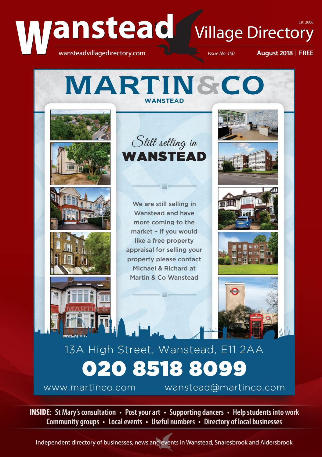 0d83a1addac August 2018 by Wanstead Village Directory - issuu