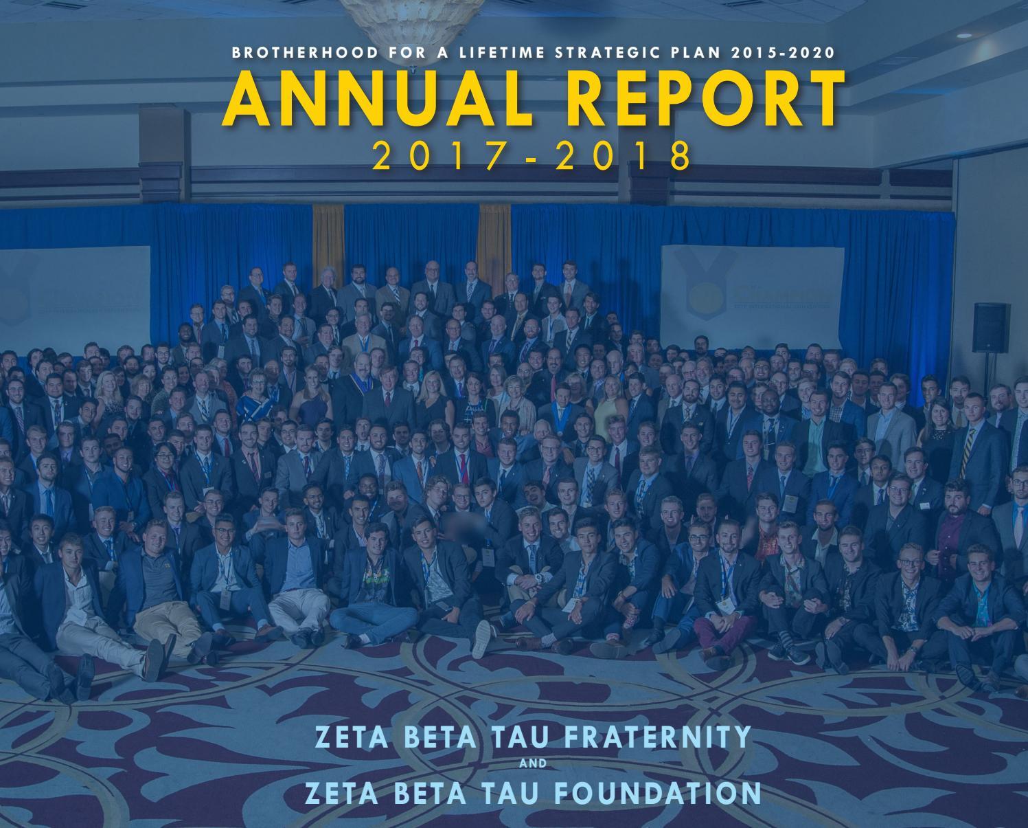 2017-2018 Annual Report by Zeta Beta Tau Fraternity - issuu