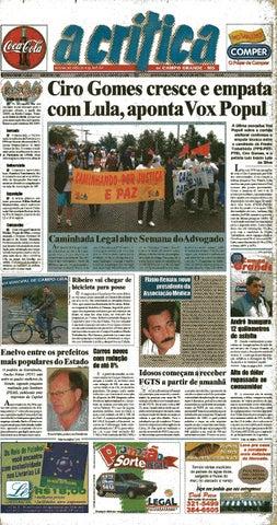 5134e2b8a0 Jornal A Critica - Edição 1090 - 04 08 2002 by JORNAL A CRITICA - issuu