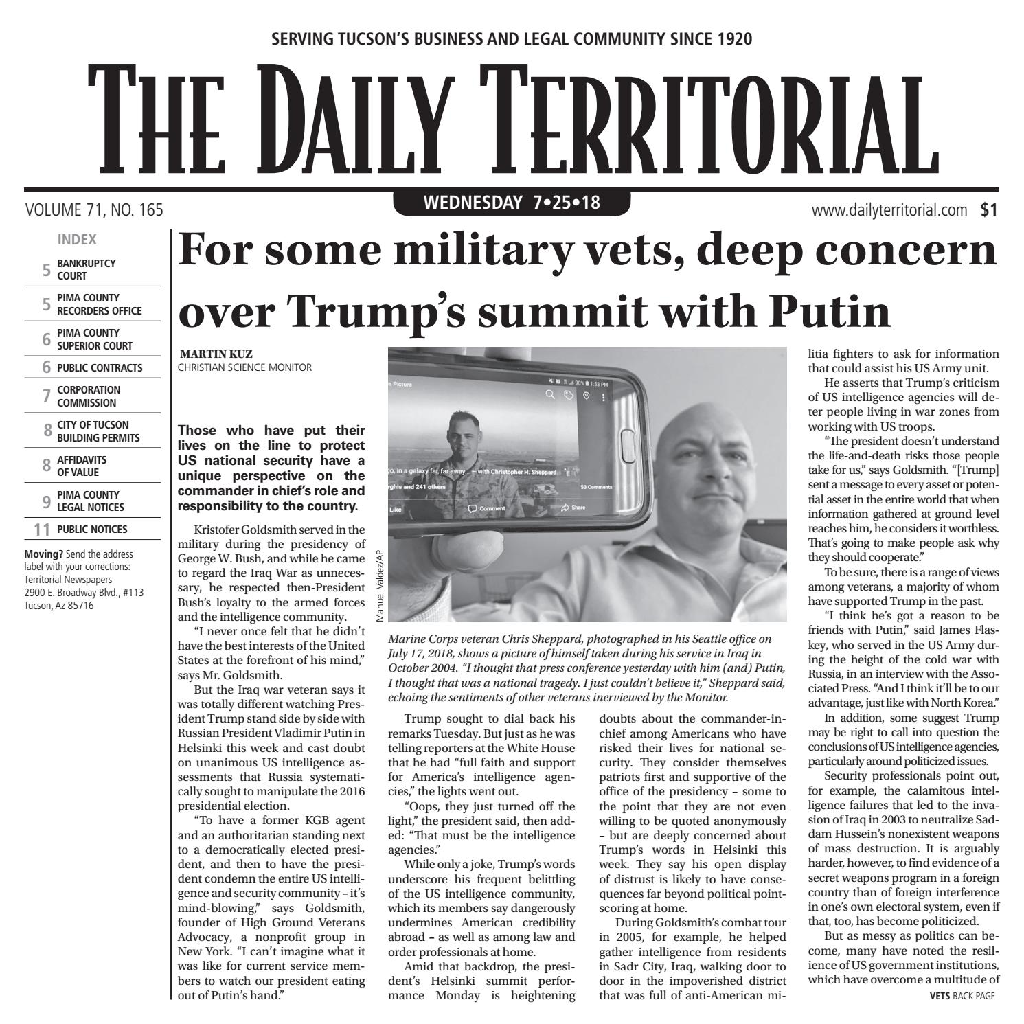 The Daily Territorial 072518 by Wick Communications - issuu