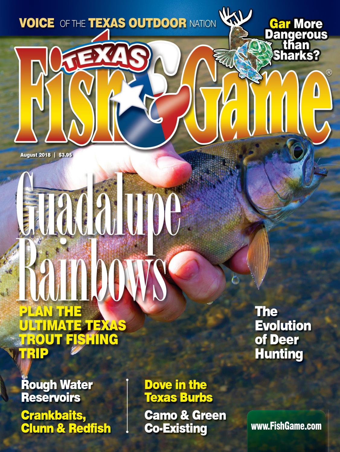 Texas Fish & Game August 2018