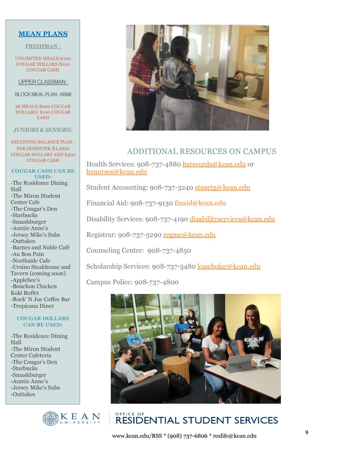 Kean Health Services >> 2018 2019 Move In Guide By Kean University Residence Life