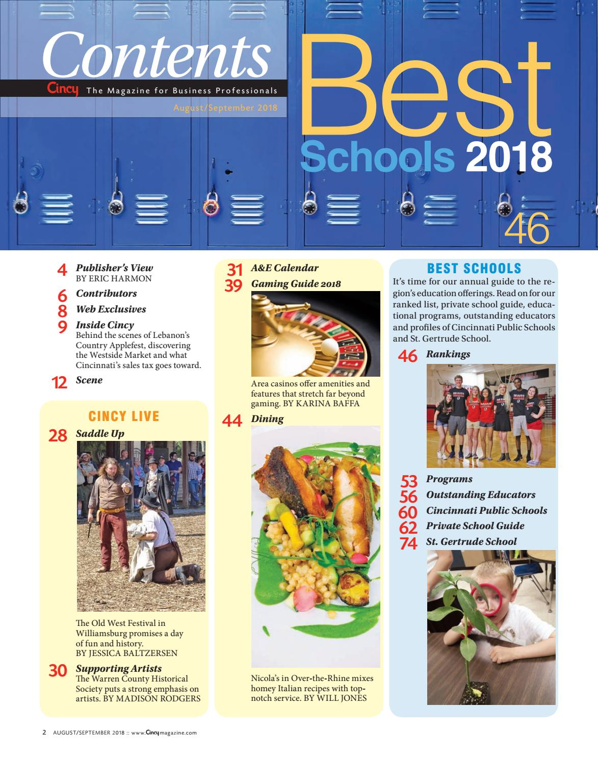 Cincinnati Public Schools Calendar.Cincy Magazine August September 2018 By Cincy Magazine Issuu