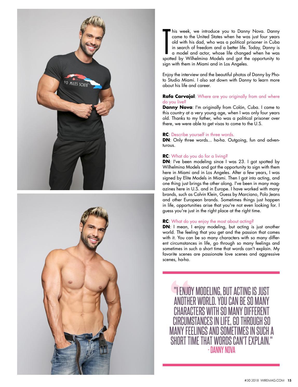 Wire Magazine 30 2018 Meet Beautiful Model Actor Danny Nova By Media Group Issuu
