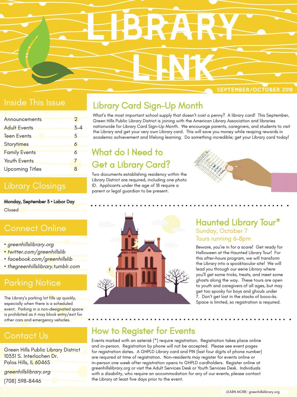 GHPLD September/October 2018 Newsletter by Green Hills Public ...