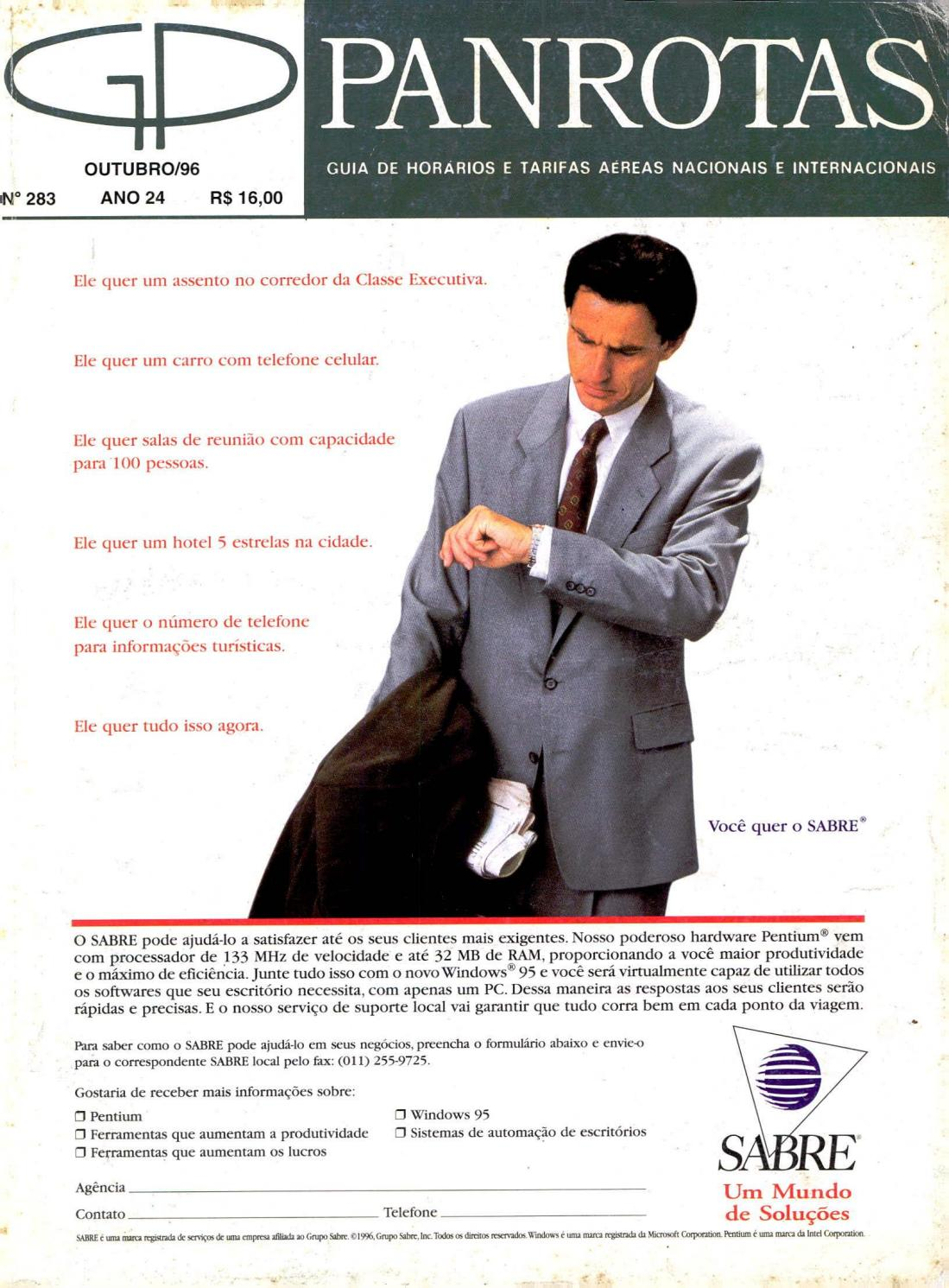 6812d3bf3 Guia PANROTAS - Edição 283 - Outubro/1996 by PANROTAS Editora - issuu
