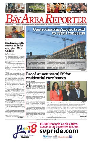July 26 2018 Edition Of The Bay Area Reporter By Bay Area Reporter