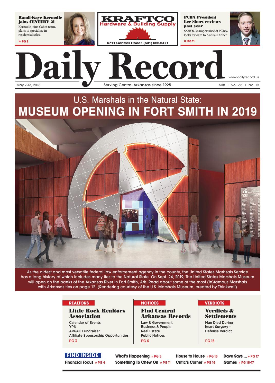U S  Marshals in the Natural State: MUSEUM OPENING IN FORT