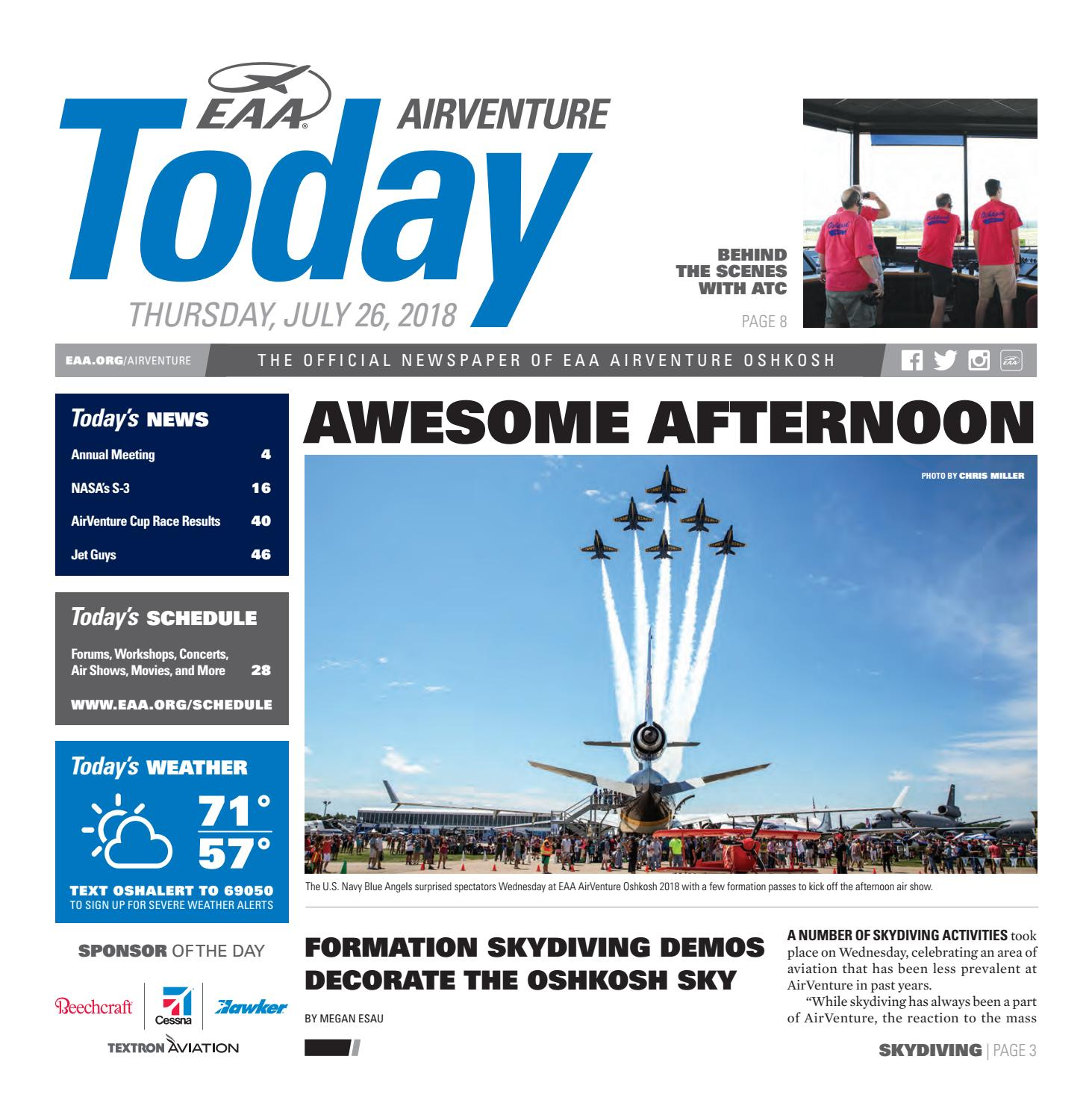 Eaa Airventure Today Thursday July 26 2018 By Experimental 49 F1 Ignition 3 Post Switch Ford Truck Enthusiasts Forums Aircraft Association Issuu