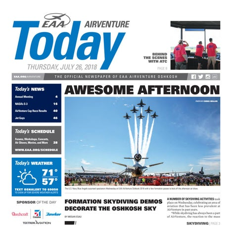 EAA AirVenture Today - Wednesday, July 26, 2017 by EAA: Experimental
