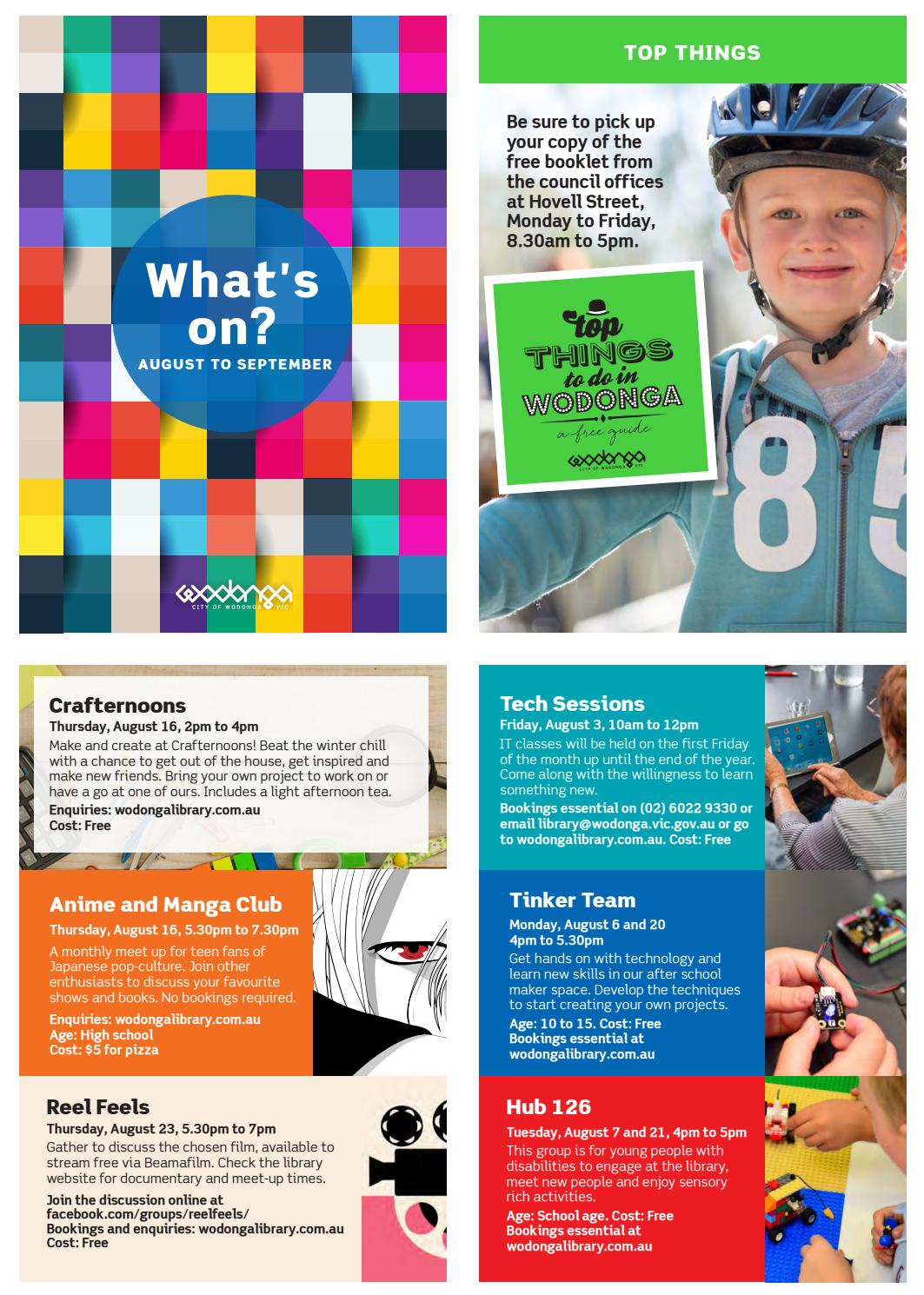 What's On 2018 (Issue 6 - August to September) by Wodonga
