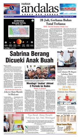 epaper andalas edisi kamis 26 juli 2018 by media andalas - issuu 01e80dba58