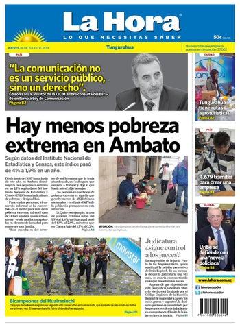 1ce9d5683 Tungurahua 26 de julio de 2018 by Diario La Hora Ecuador - issuu