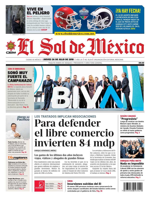 El Sol de México 26 de julio 2018 by El Sol de México - issuu b62a19d86ae8d