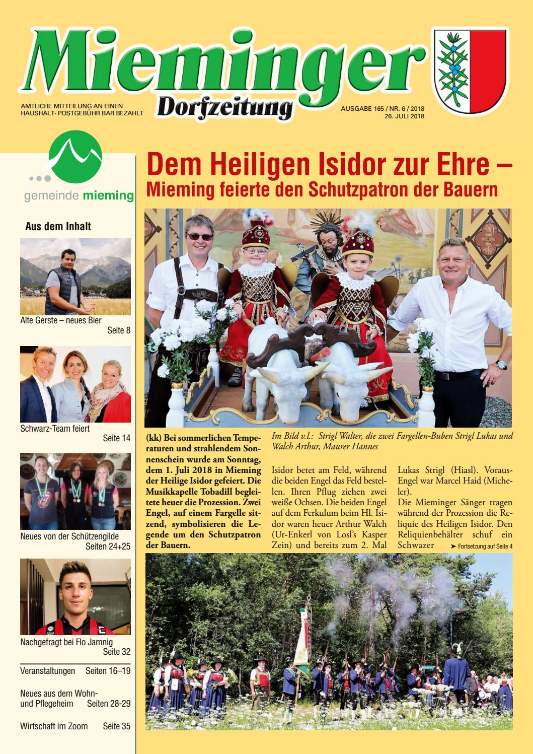 Save the date 1.1.2019 - Mieminger Plateau & Inntal