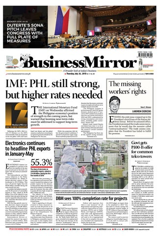 Businessmirror July 26, 2019 by BusinessMirror - issuu