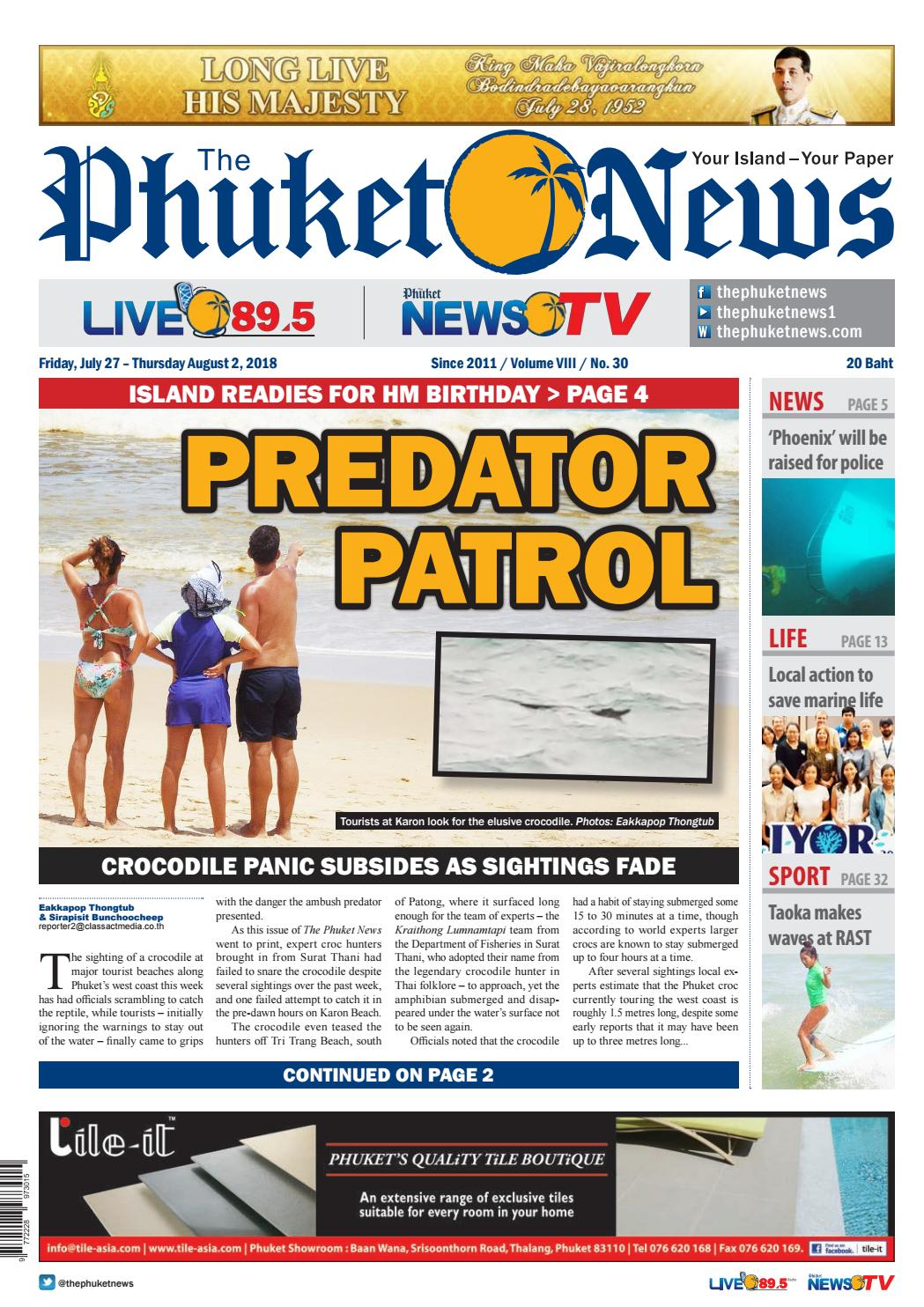 The Phuket News 27 July 2018 by The Phuket News - issuu
