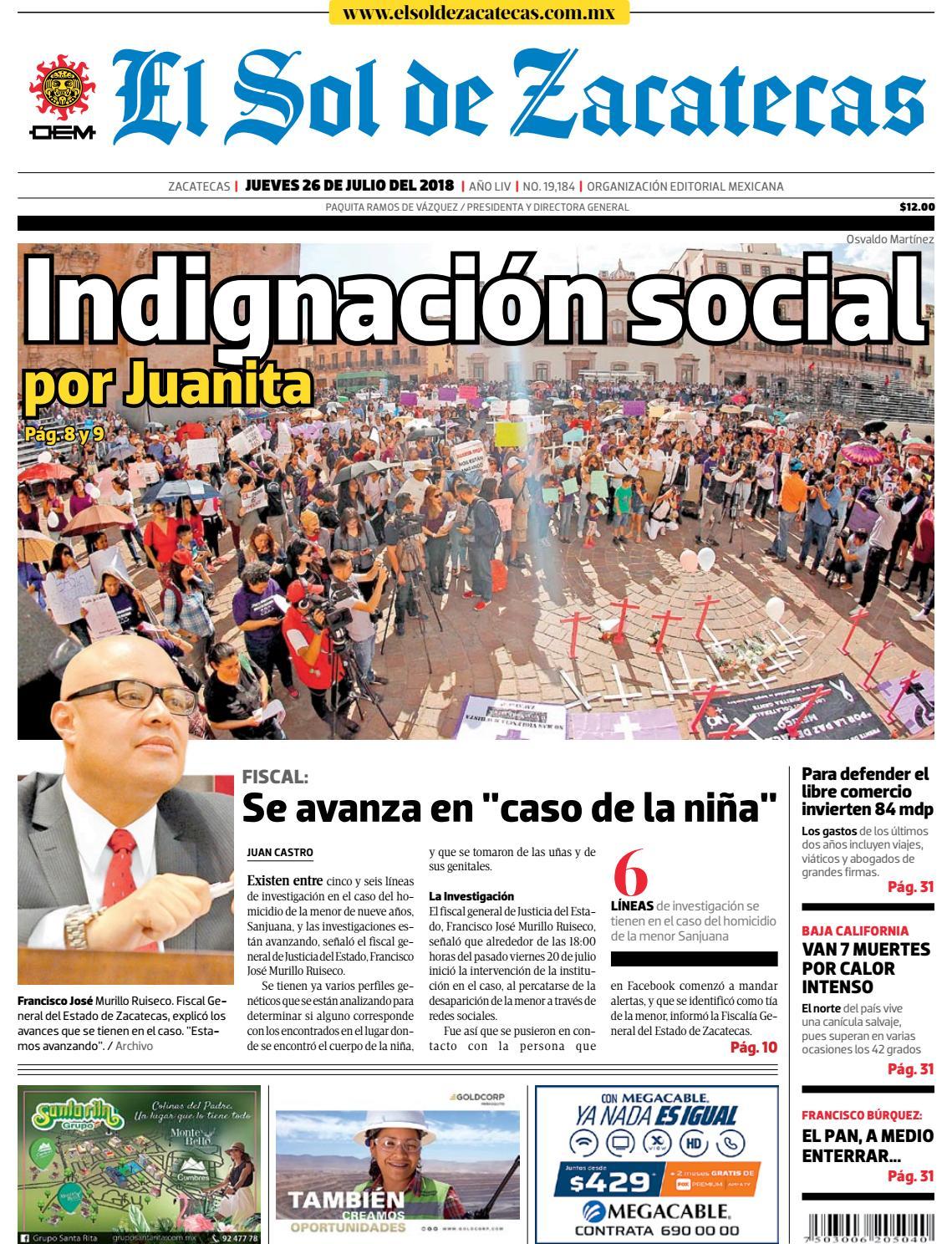 El Sol de Zacatecas 26 de julio 2018 by El Sol de Zacatecas - issuu fbe12edc013