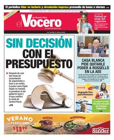 003b1f32ce35 Edición del 26 de julio de 2018 by El Vocero de Puerto Rico - issuu