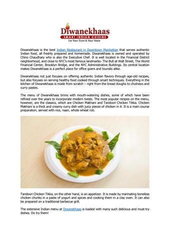 Diwanekhaas Best Indian Restaurant In Downtown Manhattan Nyc By