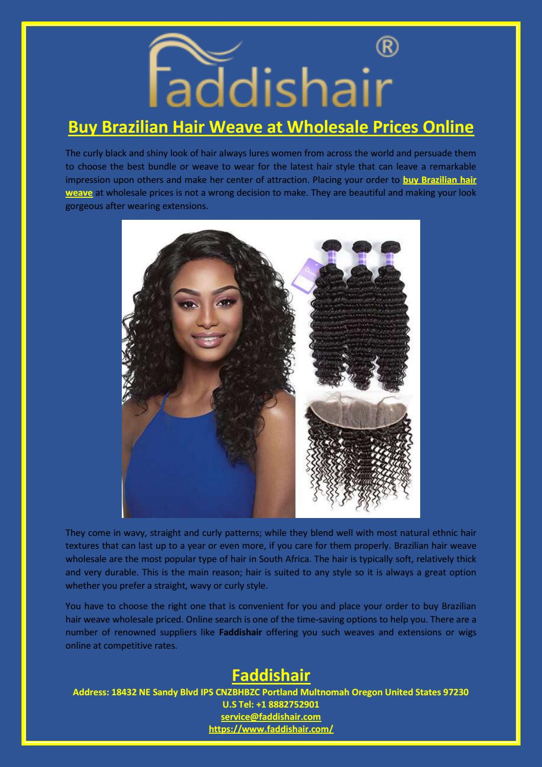 Buy Brazilian Hair Weave At Wholesale Prices Online By Faddis Hair