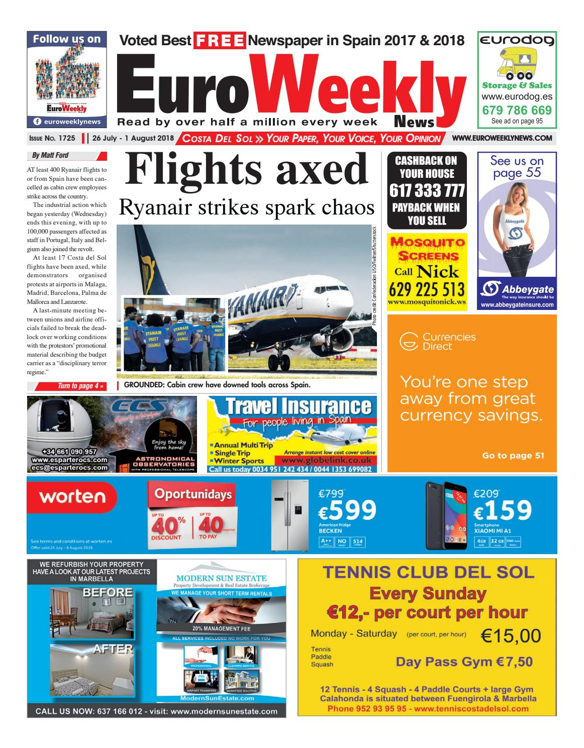 Euro Weekly News - Costa del Sol 26 July - 1 August 2018 Issue 1725