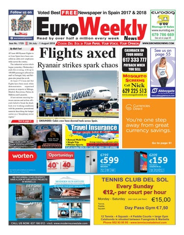 9a33664a1339 Euro Weekly News - Costa del Sol 26 July - 1 August 2018 Issue 1725 ...