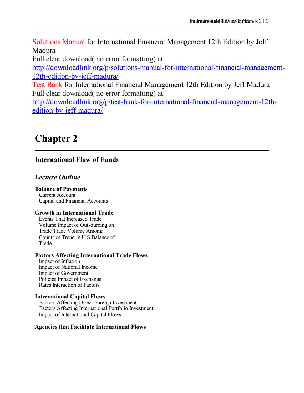 Solutions manual for international financial management 12th edition by  jeff madura by Abel2937 - issuu