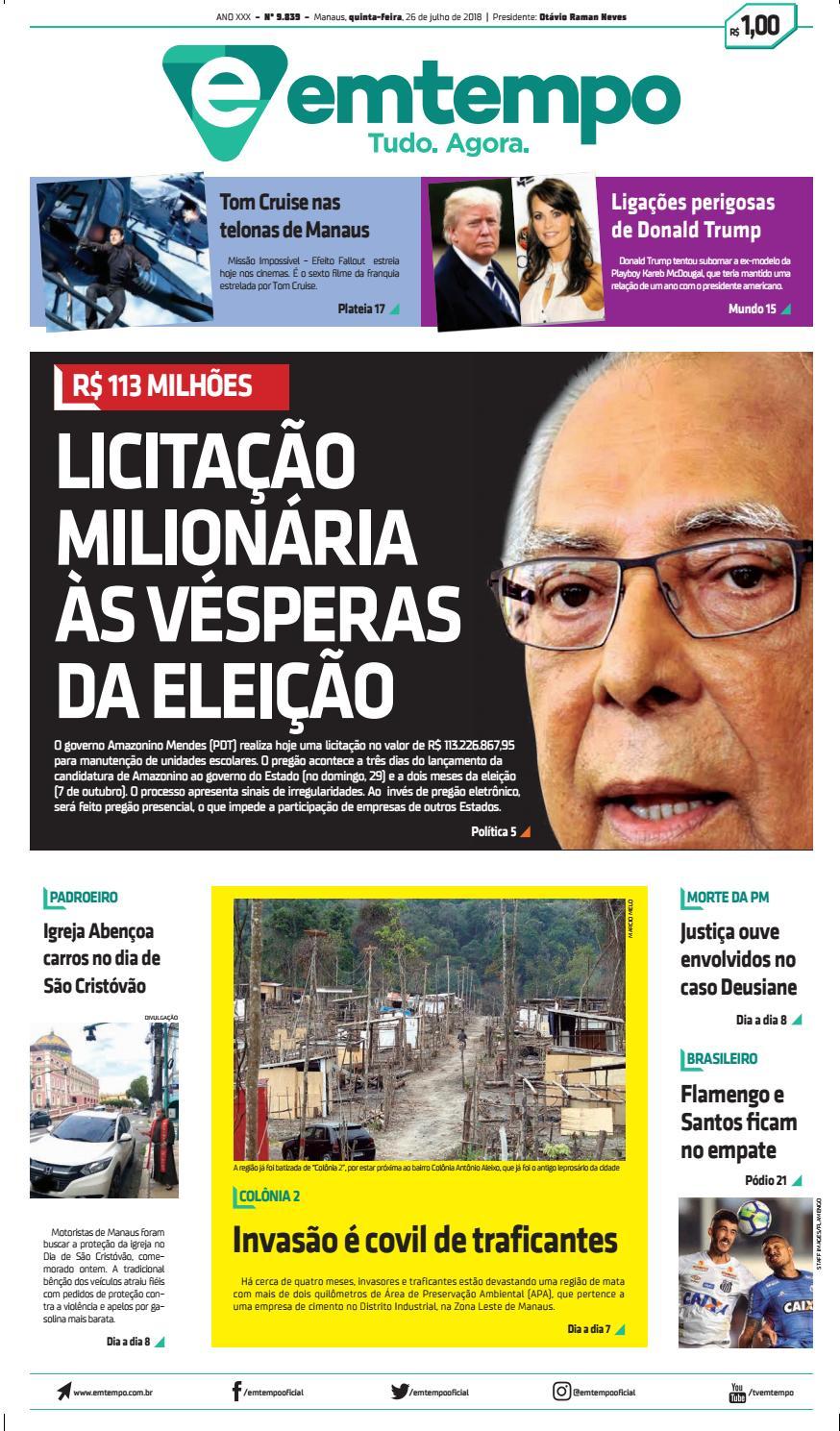Em Tempo - 26 de Julho de 2018 by Amazonas Em Tempo - issuu 6541fd523f