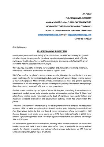 Invitation Letter From The Chairman July 2018 By Grv Global Issuu