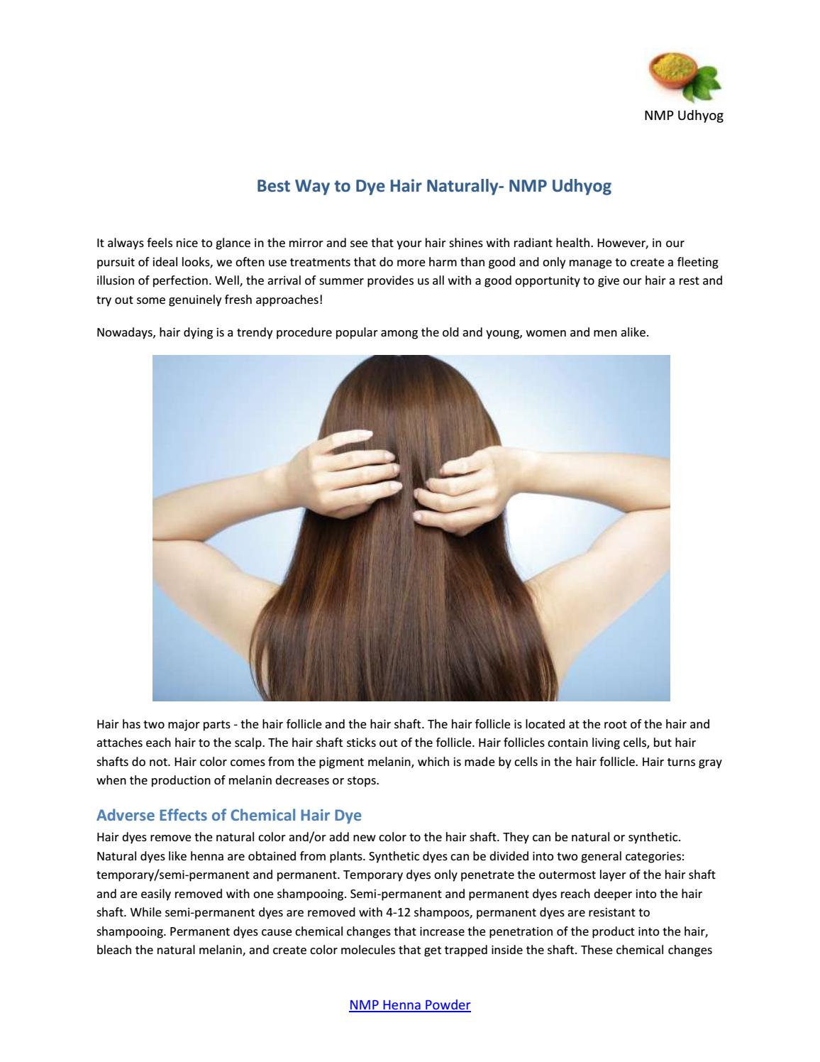 Best Way to Dye Hair Naturally- NMP Udhyog by Nmp Udyog - issuu