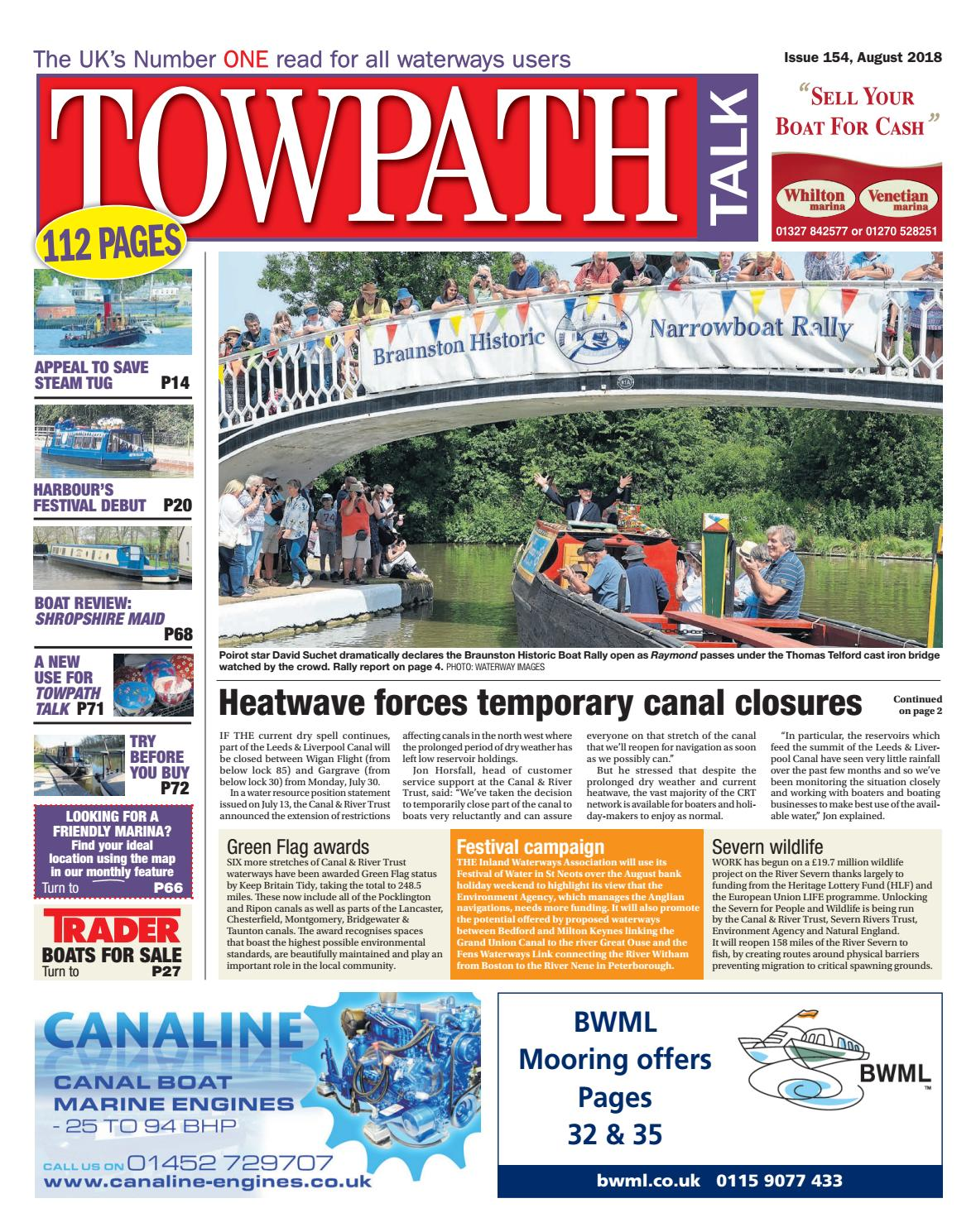 towpath talk 154 august 2018 by mortons media group ltd issuu