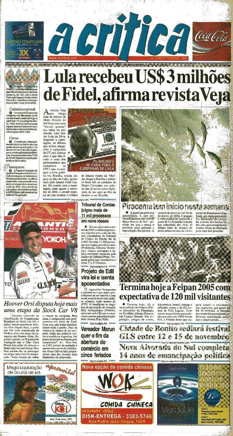 951208a6b1b84 Jornal A Critica - Edição 1253 - 30 10 2005 by JORNAL A CRITICA - issuu