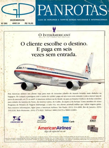 Guia PANROTAS - Edição 285 - Dezembro 1996 by PANROTAS Editora - issuu 4c83c1ec9c