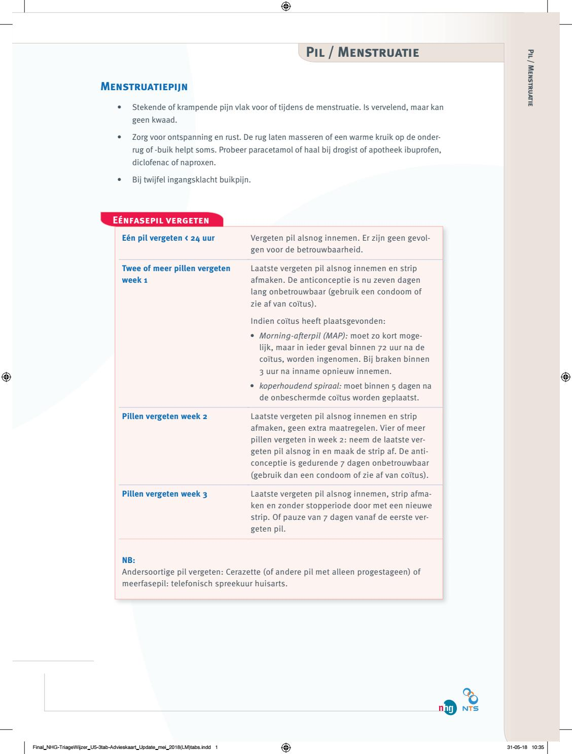 Nhg Triage Pil Menstruatie By Hermanvanoorschot4 Issuu