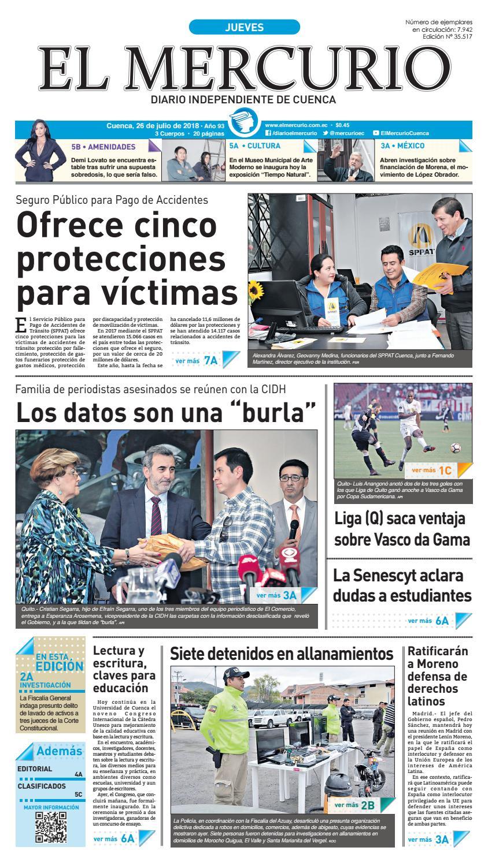 hemeroteca-26-07-2018 by Diario El Mercurio Cuenca - issuu