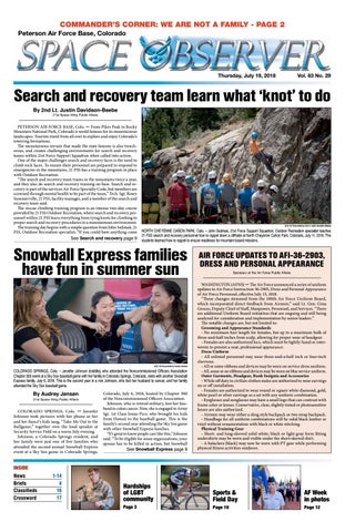 Peterson Space Observer July 19, 2018 by Colorado Springs Military