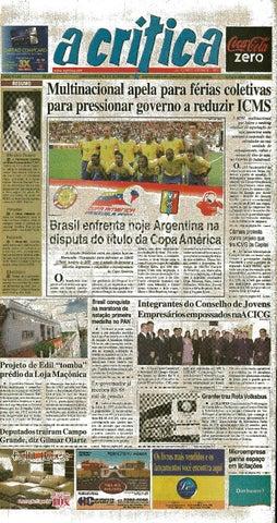 Jornal A Critica - Edição 1339 - 15 07 2007 by JORNAL A CRITICA - issuu fa966f1d227