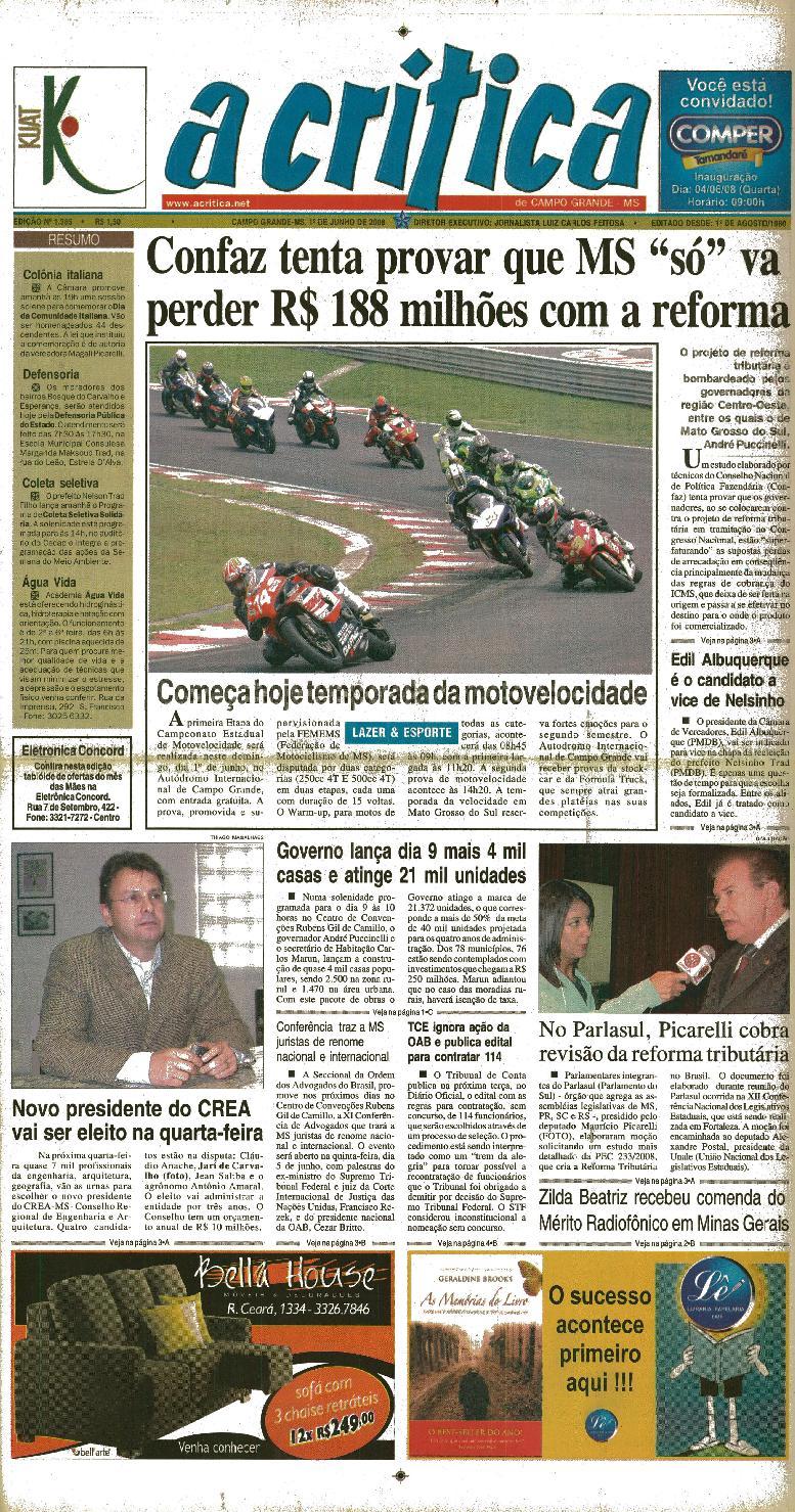 Jornal A Critica - Edição 1385 - 01 06 2008 by JORNAL A CRITICA - issuu e10572f209