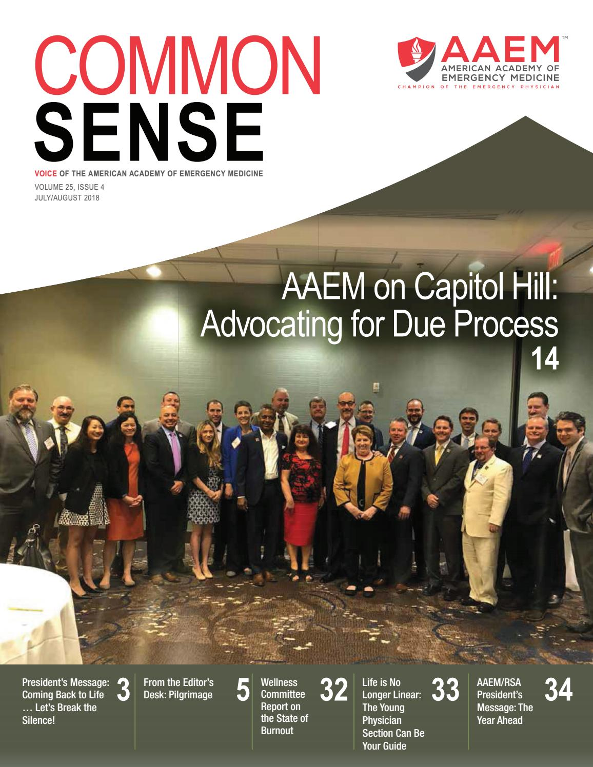 July August 2018 Common Sense By American Academy Of Emergency Model Railroad Electrical Wiring Nathaniel A Haas Medicine Issuu