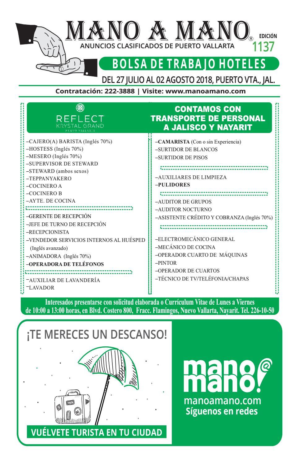 Bolsa trabajo hoteles 1137 by MANO A MANO - issuu