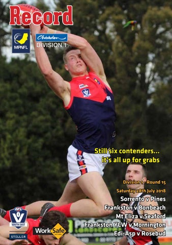MPNFL Footy Record July 28 2018 by AFL South East - issuu