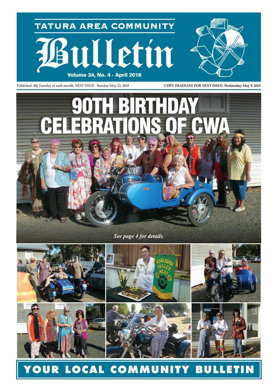 Tatura Bulletin April Edition 2018 By Tatura Bulletin Issuu