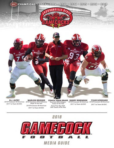 Wholesale 2018 Jacksonville State Football Media Guide by Jacksonville State  supplier