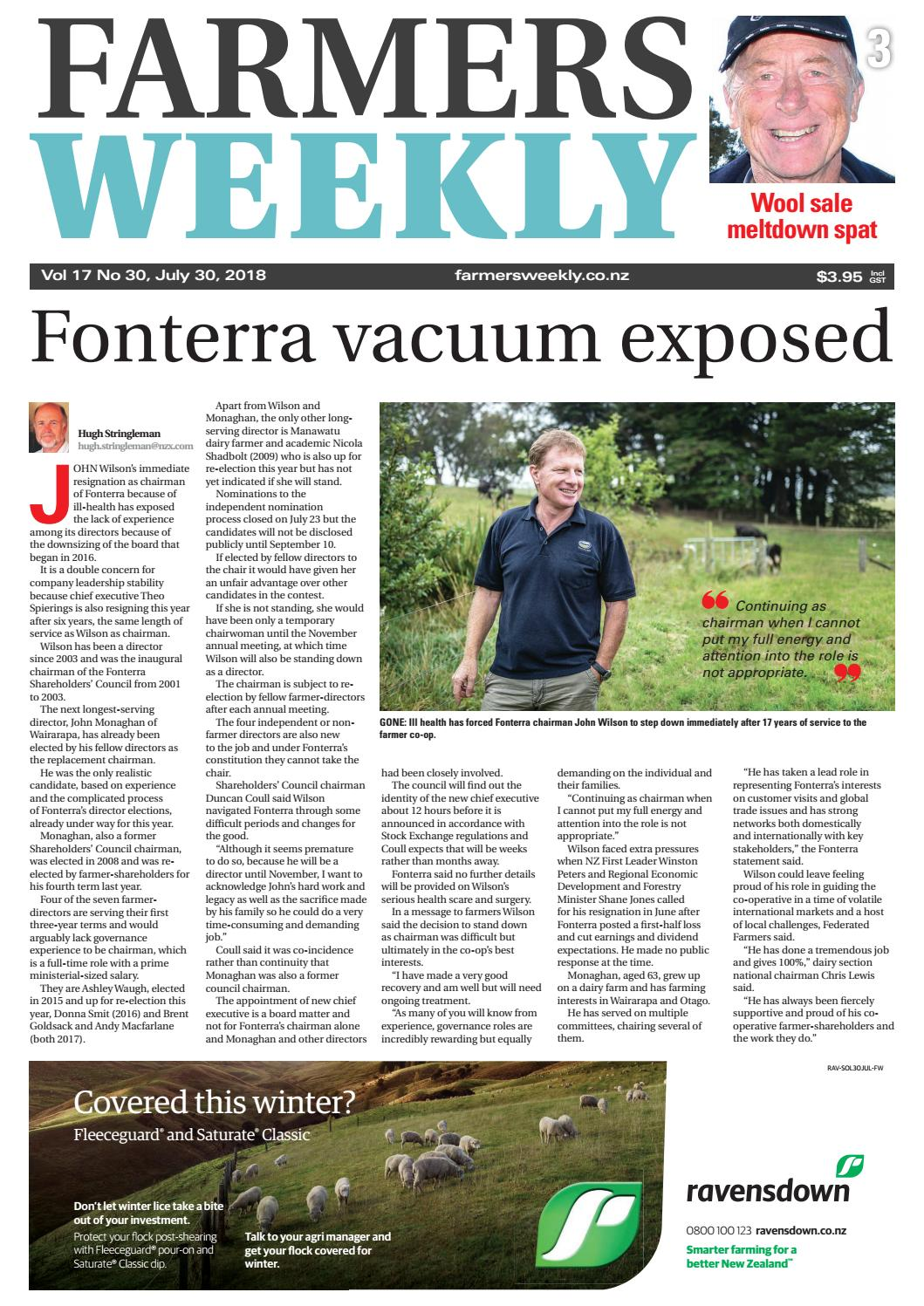 new product f9d15 fc831 Farmers Weekly NZ July 30 2018