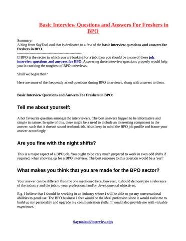 essay writing for bpo interview